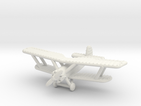 1/285 (6mm) Armstrong Whitworth Atlas in White Natural Versatile Plastic