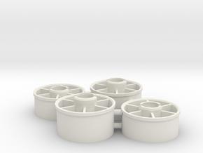 Mini-z_20mm_wheelset in White Natural Versatile Plastic