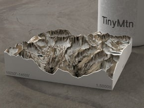 Mt. Whitney (new), California, USA, 1:50000 in Natural Full Color Sandstone