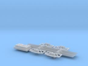 N Scale Atlas 90T 3 bay hopper dress up kit 2PK in Smooth Fine Detail Plastic