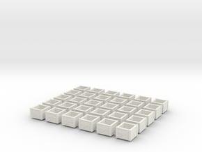 kratten 30 stuks schaal N in White Natural Versatile Plastic