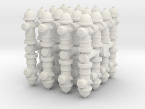 Fire Hydrant (x32) 1/100 in White Natural Versatile Plastic