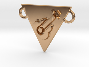 music power necklace in Polished Bronze