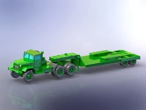 M123C w.  M172 Lowbed Trailer 1/200 in Smooth Fine Detail Plastic