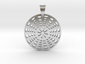 Circle Pendant in Natural Silver