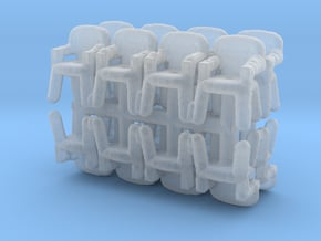 Plastic Chair (x16) 1/220 in Smooth Fine Detail Plastic
