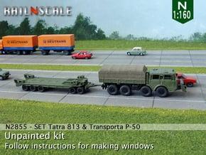 SET Tatra 813 8x8 & Transporta P-50 (N 1:160) in Smooth Fine Detail Plastic