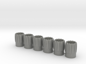 intake/exhaust cones for BT-20 (x6) in Gray PA12