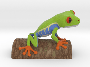 Red-eyed Tree Frog, small in Natural Full Color Sandstone