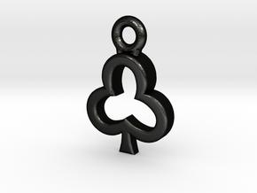 Club Charm / Pendant / Trinket in Matte Black Steel