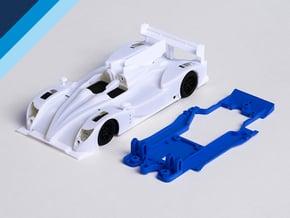 1/32 Oreca 03 Chassis for Slot.it pod in White Natural Versatile Plastic