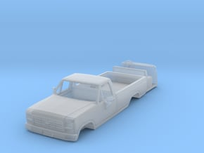1/64 80's Ford truck with interior in Smooth Fine Detail Plastic