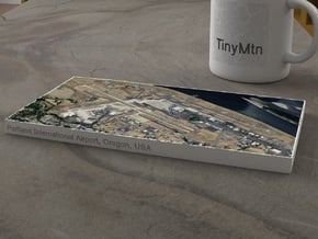 PDX - Portland Airport, Oregon, USA, 1:25000 in Natural Full Color Sandstone