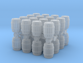 Wooden Barrel (x32) 1/200 in Smooth Fine Detail Plastic