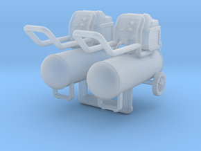 Air Compressor 01. 1:24 Scale in Smooth Fine Detail Plastic