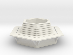 Hexagonal Bench 1/76 in White Natural Versatile Plastic