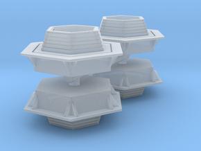 Hexagonal Bench (x4) 1/160 in Smooth Fine Detail Plastic