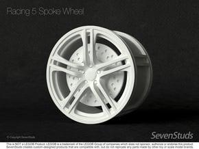 Racing Wheel 01_62.3mm in White Natural Versatile Plastic