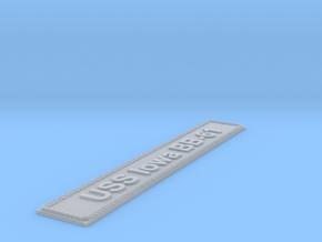 Nameplate USS Iowa BB-61 (10 cm) in Smoothest Fine Detail Plastic