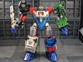 TF Combiner Wars Shuttle Thigh Armor in White Natural Versatile Plastic