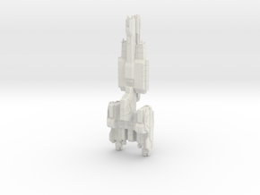 HALO. UNSC Stalwart Class Frigate 1:3000 in White Natural Versatile Plastic
