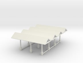 Fullerton Platform Shelters 4 pieces N scale in White Natural Versatile Plastic