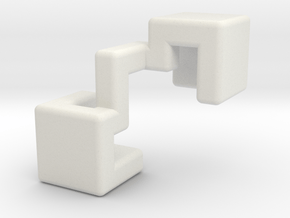 Piece #1 for Sonneveld's 4-Piece Cube in White Natural Versatile Plastic