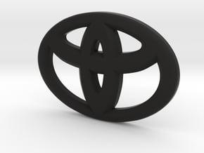 Toyota steering wheel emblem blackout Overlay in Black Natural Versatile Plastic