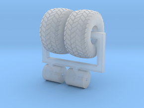 1/64 21.5L-16.1 Turf Tires And Wheels in Smooth Fine Detail Plastic
