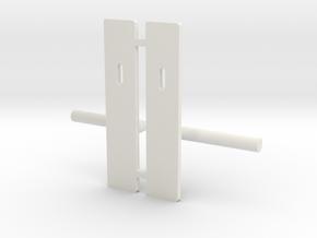 Contemporary door handle in 1:12 and 1:24  in White Premium Versatile Plastic: 1:12