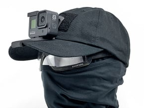 Hat Mount (GoPro Hero 8 Compatible) in Black PA12