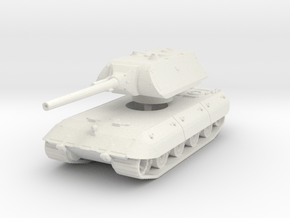 E 100 Maus 128mm (side skirts) 1/144 in White Natural Versatile Plastic
