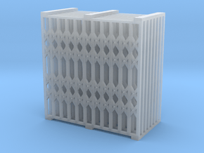 Grille Sliding Door 01. HO Scale (1:87) in Smooth Fine Detail Plastic