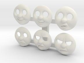 HO Thomas Face Pack #1 in White Natural Versatile Plastic