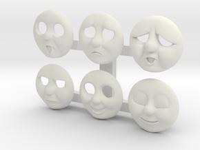 HO Thomas Face Pack #2 in White Natural Versatile Plastic