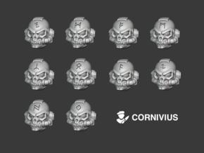 10x Multi Runes - G:9 Werewolf Helms in Smooth Fine Detail Plastic