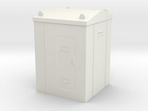 Railway Relay Cabinet 1/72 in White Natural Versatile Plastic