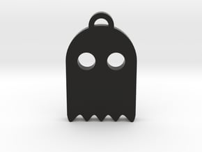 Pacman Ghost Keychain in Black Natural Versatile Plastic