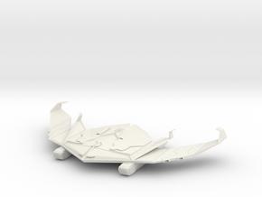Romulan KarVal Class WAR BIRD in White Natural Versatile Plastic