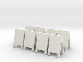 Advertising Board (x8) 1/76 in White Natural Versatile Plastic