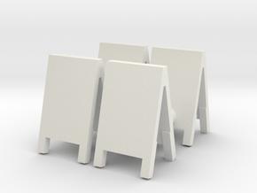 Advertising Board (x4) 1/48 in White Natural Versatile Plastic