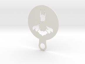 Coffee Stencil - Batman in White Natural Versatile Plastic