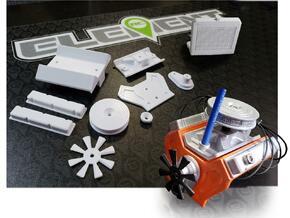 Element RC Engine Cover in White Natural Versatile Plastic