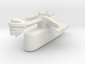 3125 Scale Klingon F5TK Transport, One Pod WEM in White Natural Versatile Plastic