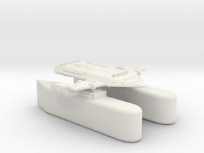 3788 Scale Orion Heavy Fleet Transport, Klingon in White Natural Versatile Plastic