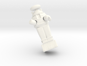 Lost in Space Robot Floating in Space 1.35 in White Processed Versatile Plastic