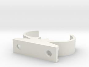 2G11 Tube Holder in White Natural Versatile Plastic