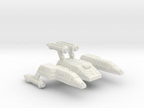 3788 Scale Lyran Refitted King Jaguar-F (NCF) CVN in White Natural Versatile Plastic