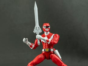 Heroes Red Accessory - Sword in White Natural Versatile Plastic