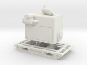 1/25th Diesel Electric Power Unit w Skid in White Natural Versatile Plastic